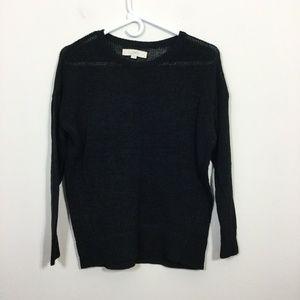 Ann Taylor LOFT Size S Black Open Knit Sweater